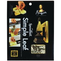 Mona Lisa Simple Leaf Gold 5-1/2in x 5-1/2in/Sheets Peggable