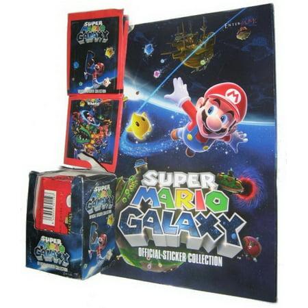 Nintendo Super Galaxy Sticker Book w/ 50 Packs of Stickers (Enterplay) -  250 Stickers