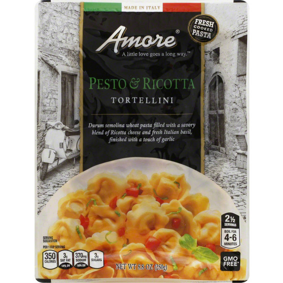 Amore Pesto & Ricotta Tortellini Pasta, 8.8 oz, (Pack of 6) by