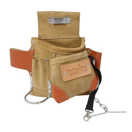 Deluxe Carpenter Tool Belt Pouch Heavy Duty Suede Leather Fits Hammer And Nails Dewalt Heavy Duty Tool Belt