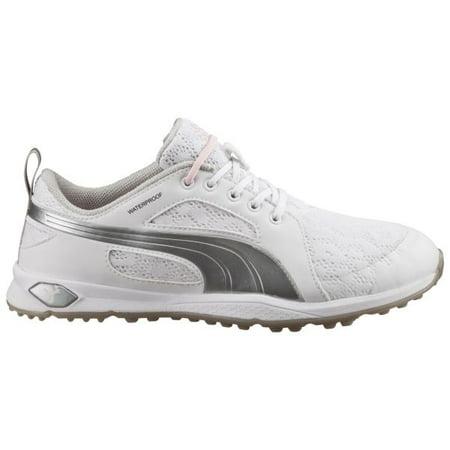 Puma 2016 Biofly Mesh Womens Golf Shoes (White Silver Pink) - Walmart.com bf6a96042