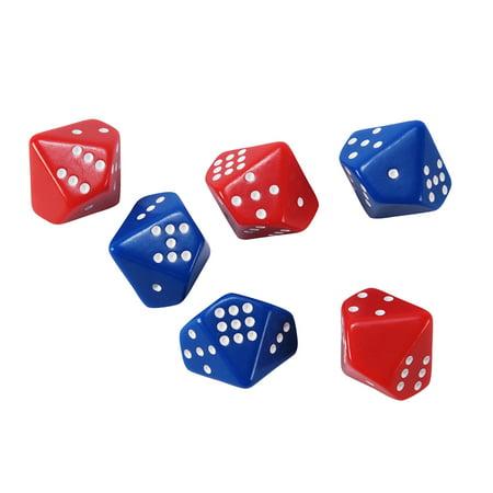 (6 ST) SUBITIZING DICE 6 PER SET 3 RED 3 BLUE