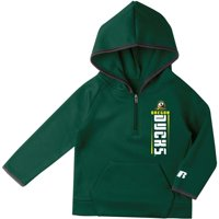 Toddler Russell Athletic Green Oregon Ducks Fleece Raglan Quarter-Zip Pullover Hoodie