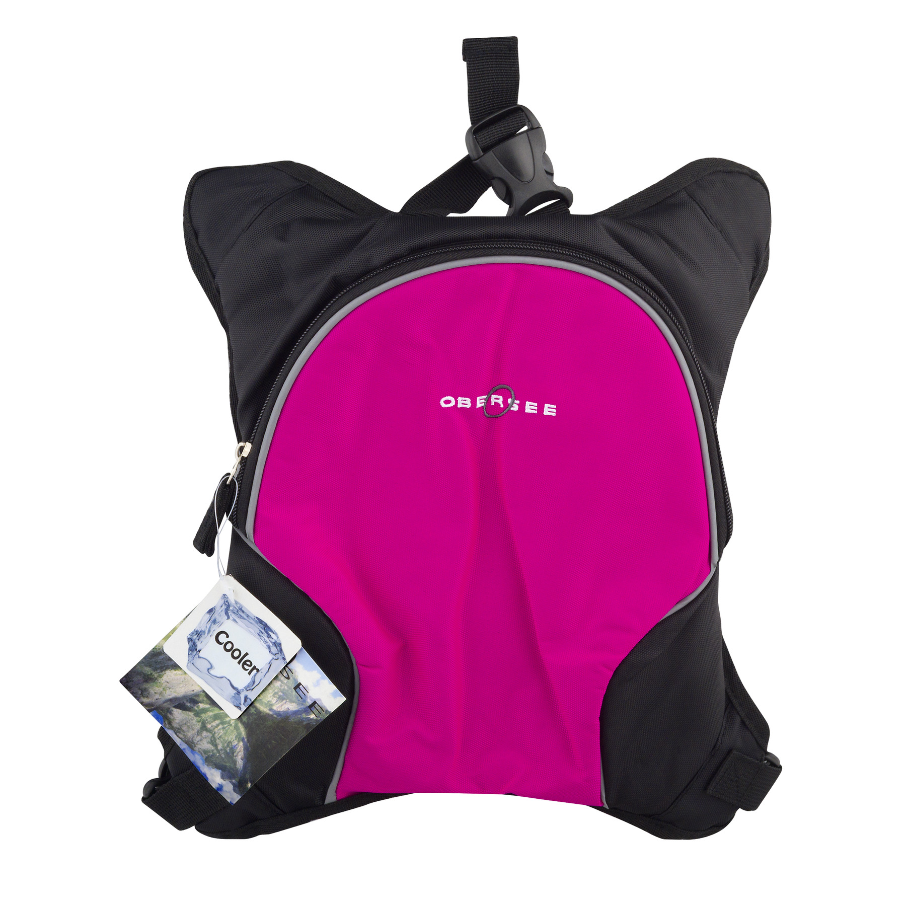 Obersee Baby Bottle Cooler Bag Stroller Attachment, Black