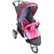 Jogging stroller EVA wheel 12 x 3 inch swivel front with a window at canopy