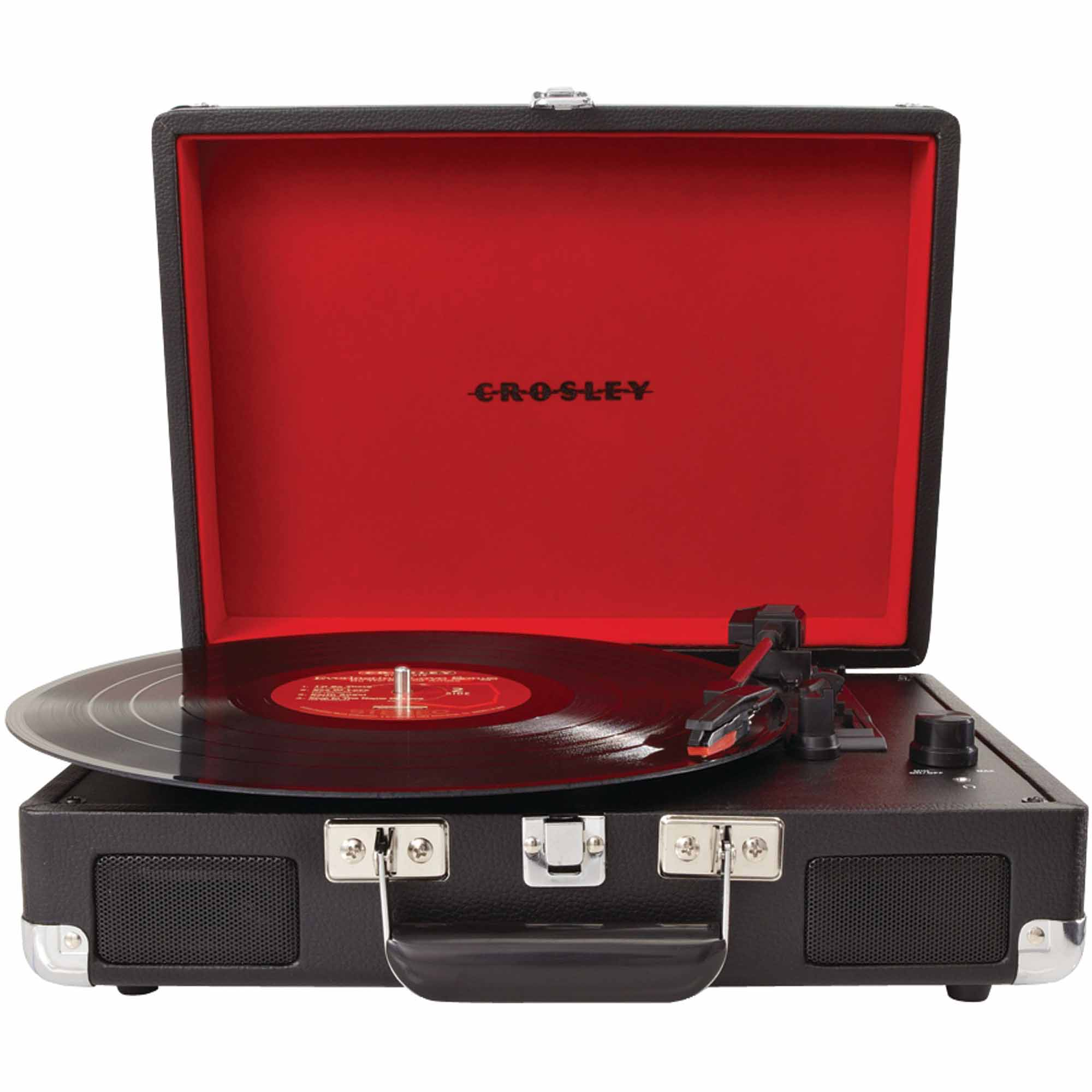 Crosley Radio Cr8005a-bk Cruiser Portable Turntable, Black