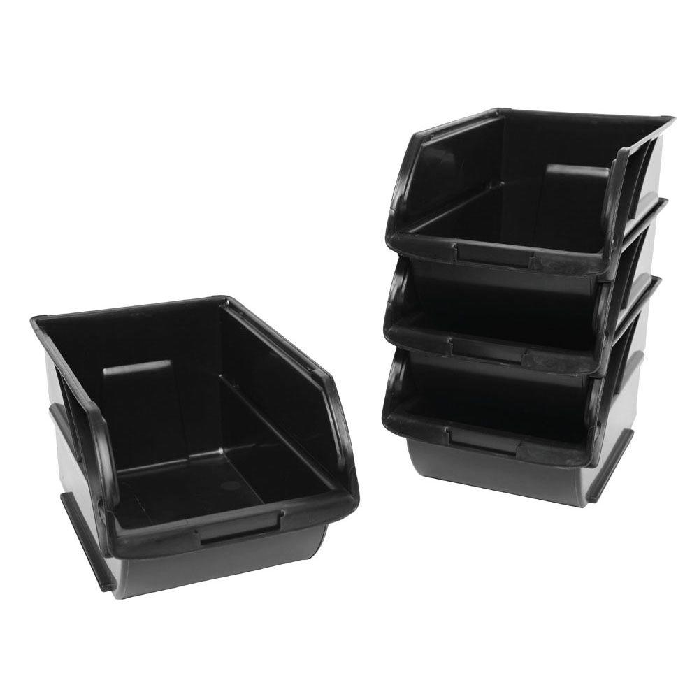 Superieur STANLEY 057304R   4 Pack Storage Bins With Wall Hangers #3   Walmart.com