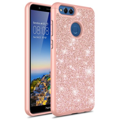 best authentic 8c5ff ed40a Honor 7X Case, HUAWEI HONOR 7X, KAESAR Cute Fashinon Hybird Luxury Shinning  Bling Classy Glitter Sparkle Protective Shockproof Case Cover for Huawei ...