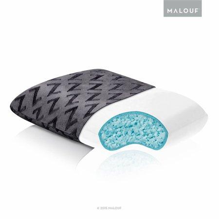 Z Travel Shredded Cooling Gel Memory Foam Pillow Walmart Com