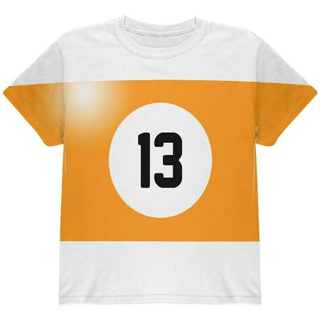 Halloween Billiard Pool Ball Thirteen Costume Youth T Shirt (P Town Halloween Ball)