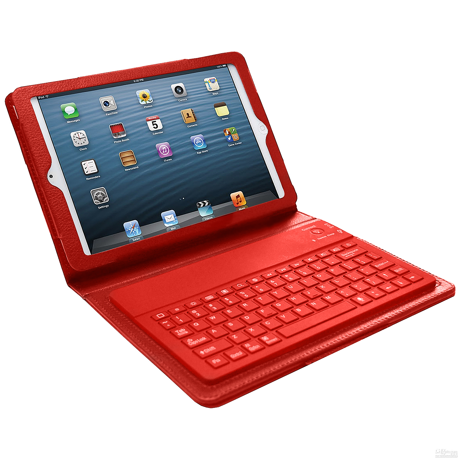 Bluetooth Keyboard Case for iPad Mini- Red