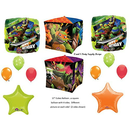 TEENAGE MUTANT NINJA TURTLES Birthday Party Mylar Balloons Decorations Supplies Movie