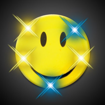 FlashingBlinkyLights Smiley Face Flashing Blinking Light Up Body Lights - Flashing Smiley