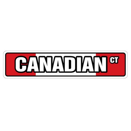 CANADIAN FLAG Street Sign Canada flags maple leaf hockey| Indoor/Outdoor There Maple Leaf Canadian Flag