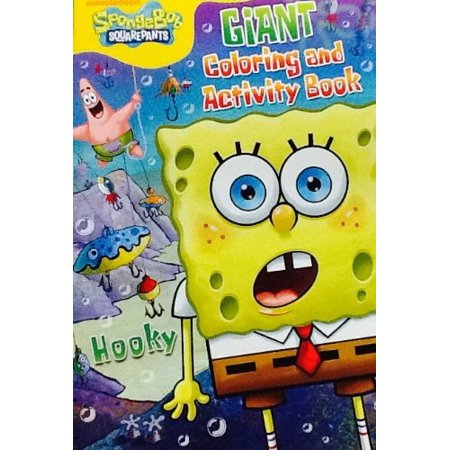 """Nickelodeon SpongeBob Squarepants ~ HOOKY! ~ Oversized Giant Coloring & Activity Book! Games! Mazes! Puzzles! 16"""" X 11"""" 24 Bordered Pages! - image 1 of 2"""