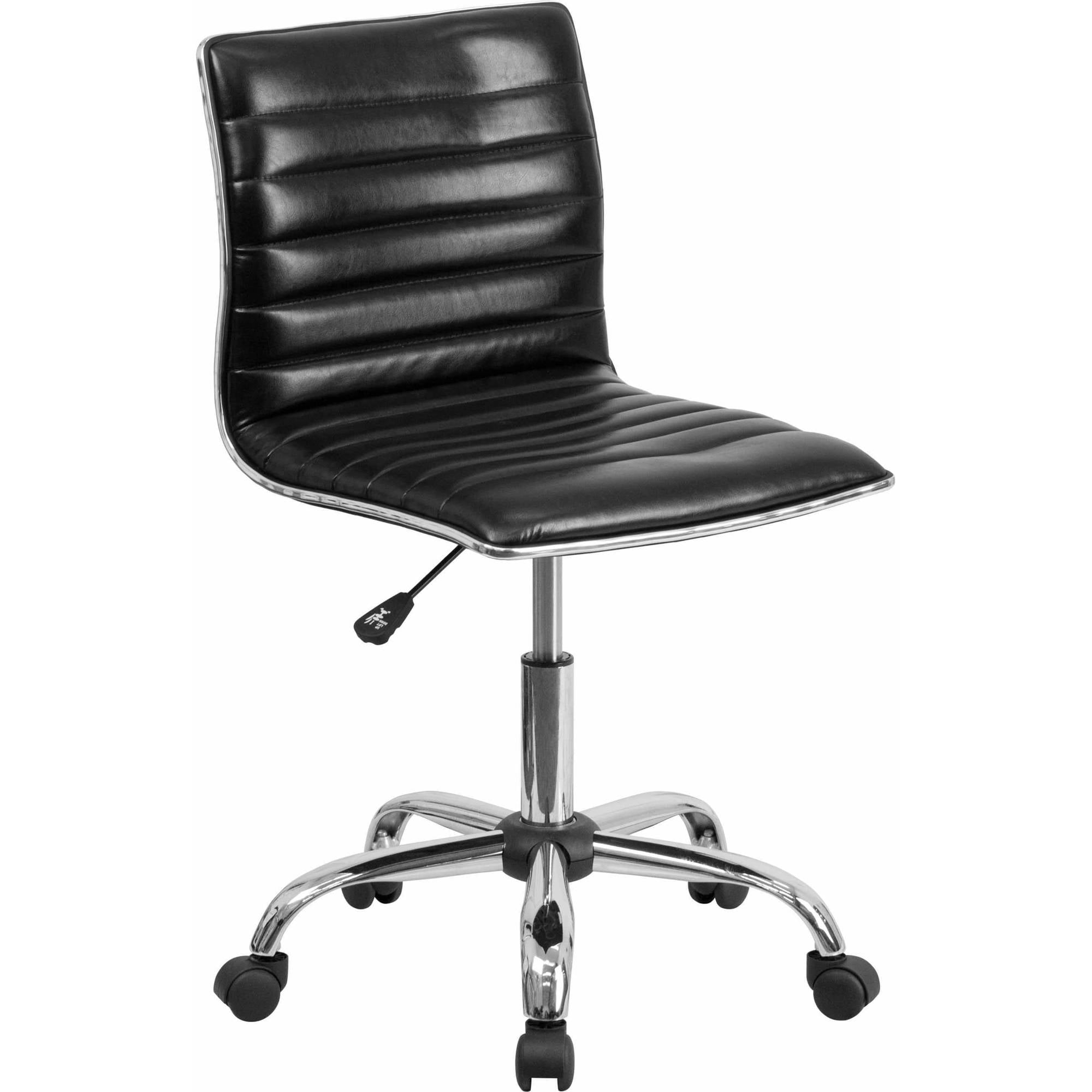 Flash Furniture Low Back Armless Ribbed Designer Swivel Task Chair