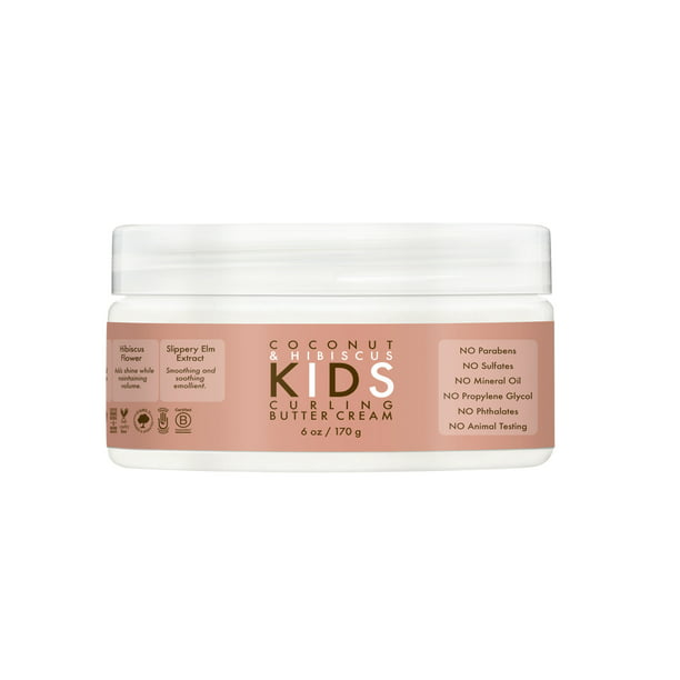SheaMoisture Kids Curling Butter Cream Coconut & Hibiscus, 6 oz