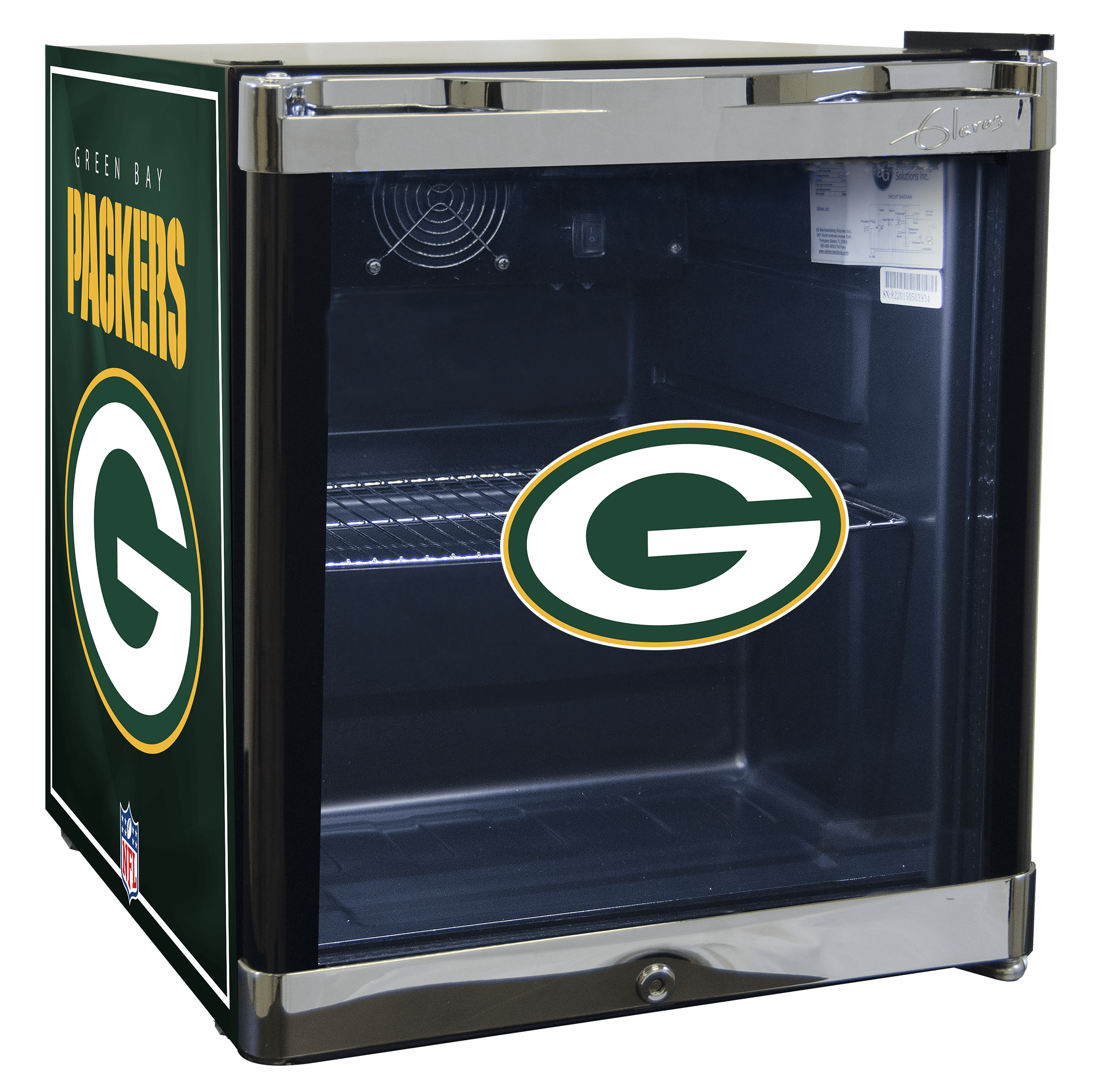 NFL Refrigerated Beverage Center 1.8 cu ft- Green Bay Packers