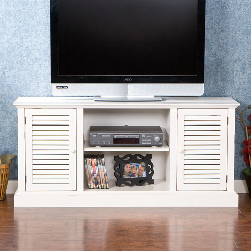 Bartlesville White Media Stand, for TVs up to 50""
