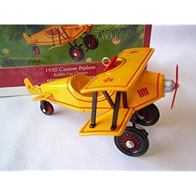hallmark kiddie car classics 1930 custom biplane christmas ornament qx6975 - 2001