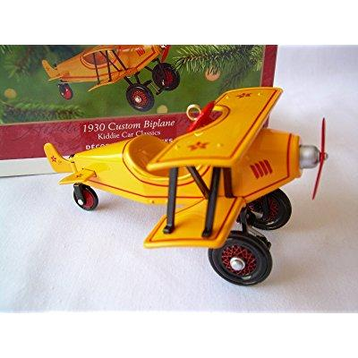 hallmark kiddie car classics 1930 custom biplane christmas ornament qx6975 - 2001