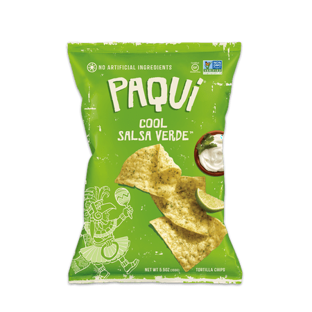 Paqui Tortilla Chips, Cool Salsa Verde, Gluten-Free, 5.5oz for $<!---->