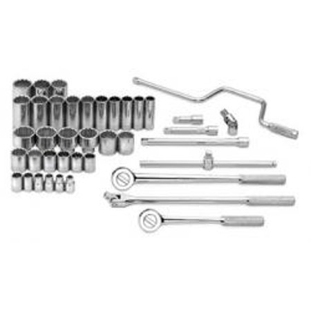 """S-K HAND TOOL LLC SK4140 SET 1/2"""" DR ST/DP 12 PT FR 40 PC"""