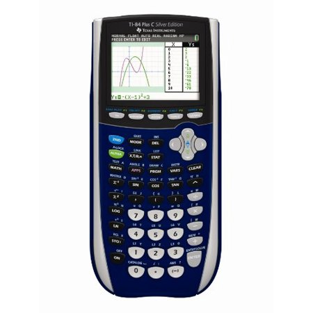 Texas Instruments TI-84 Plus C Silver Edition Graphing Calculator, Dark
