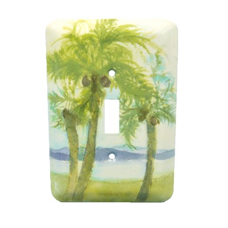 - Leviton Decorative Palm Tree Wall Plate Toggle Switch Cover 89001-PLM