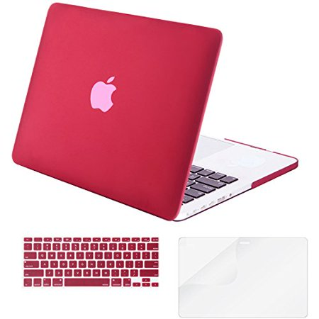 Mosiso - 3 in 1 Macbook Retina 15 Inch Soft-Skin Plastic Hard Case Cover & Keyboard Cover & Screen Protector for Macbook Pro 15.4