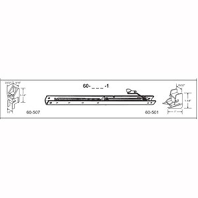 37 in. Balance Stamped No. 3630 with Ends 60-507 & 60-501 Attached Window Channel, Pack of 4 - image 1 of 1