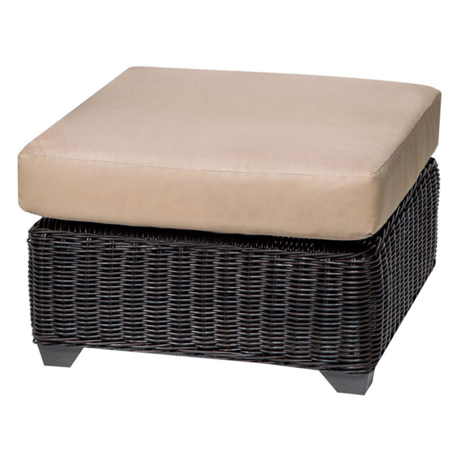 TK Classics Venice Wicker Outdoor Ottoman - Set of 2 Cushion Covers