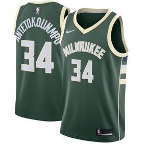 b8088a14f9e Giannis Antetokounmpo Milwaukee Bucks Nike Swingman Jersey Green - Icon  Edition