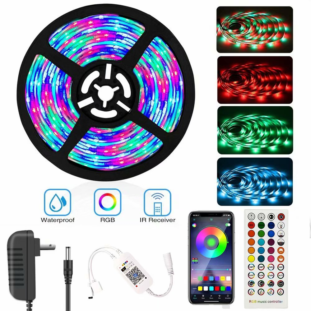 Led Strip Lights 16 4ft Waterproof Color Changing Light Strips With Remote Bright 5050 And Multicolor Rgb Led Lights For Room Bedroom Kitchen Yard Party Christmas Walmart Com Walmart Com