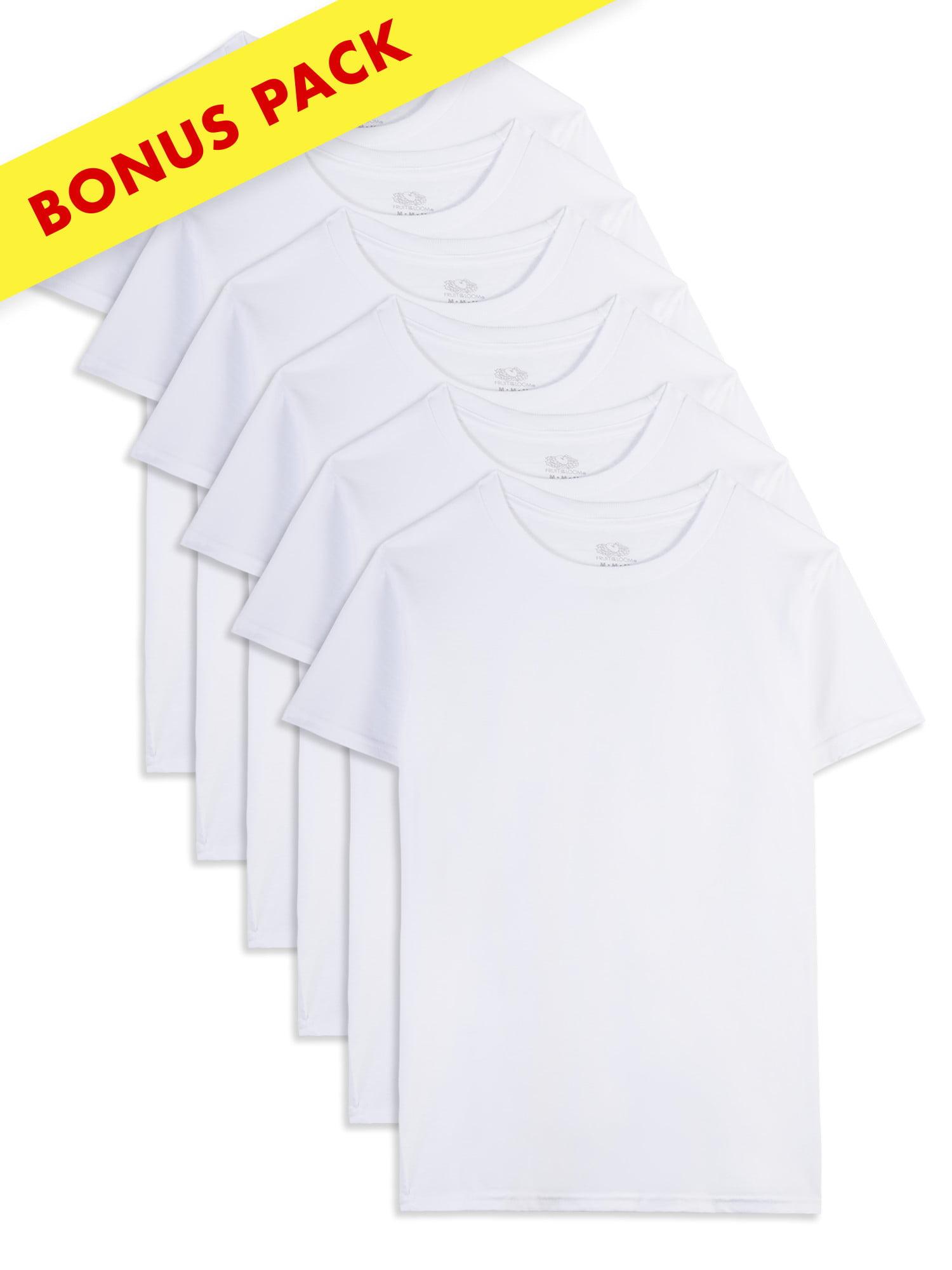 Fruit of the Loom White Crew T-Shirts, 5+1 Holiday Bonus Pack (Toddler Boy)
