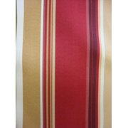 Antigua Dining Arm Chair in Royal Oak-Fabric:Red Bold Stripes