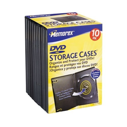 Memorex 32021980 Dvd Storage Cases 10-pk (01980)