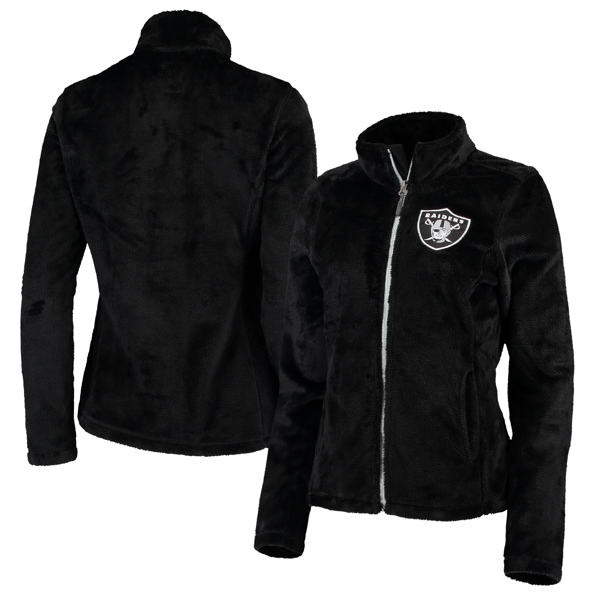 Oakland Raiders G-III 4Her by Carl Banks Women's Goal Line Full-Zip Jacket - Black