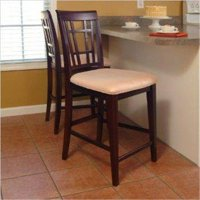 Montego Pub Chairs with Oatmeal - Antique Walnut