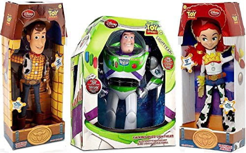 Toy Story Woody, Buzz Lightyear, Jessie Cowgirl TALKING action figure Dolls by Disney by Disney