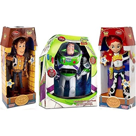 Toy Story Woody, Buzz Lightyear, Jessie Cowgirl TALKING action figure Dolls by Disney for $<!---->
