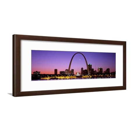 Skyline, St. Louis, MO, USA Framed Print Wall Art (Pool Table Stores In St Louis Mo)