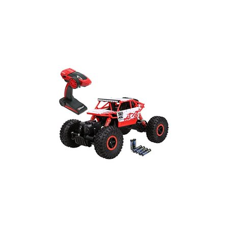 Top Race Remote Control Rock Crawler, RC Monster Truck 4WD, Off Road Vehicle, 2.4Ghz Batteries Included (TR-130) - Rake Monster