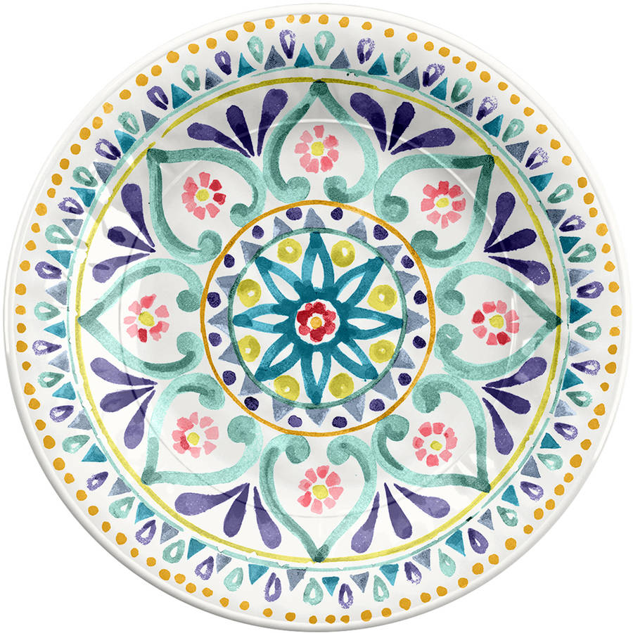 Better Homes and Gardens Multi-Medallion Salad Plate, 4 Pack