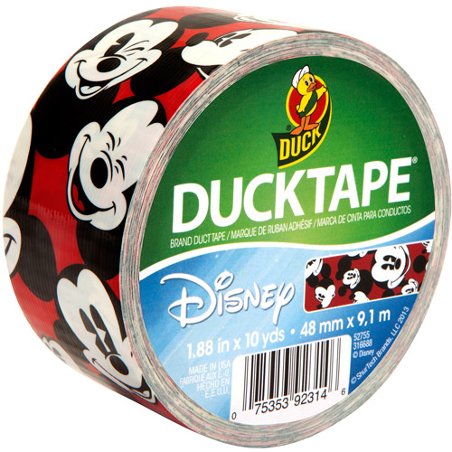"""Duck Brand Duct Tape, 1.88"""" x 10 yard, Disney-Licensed Duck Tape, Mickey Mouse"""