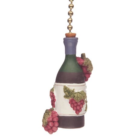 Wine Bottle Grapes Tuscany Kitchen Fan Light