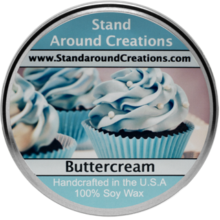 BUTTER CREAM TUREEN 3-OZ. ALL NATURAL SOY CANDLE