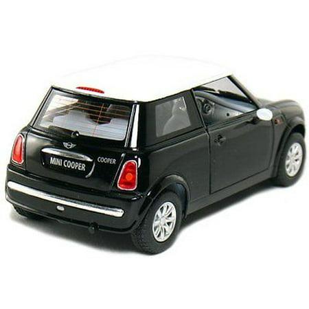"""5"""" Kinsmart Mini Cooper Diecast Model Toy Car 1:28 Pull Action Black"""