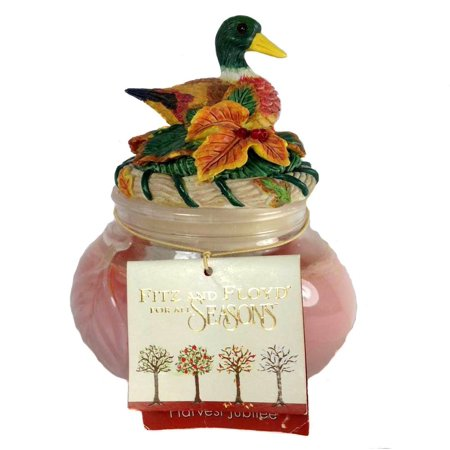 Fitz and Floyd For All Seasons Harvest Jubilee Duck Candle 300-1291 Glass Resin Wax 6