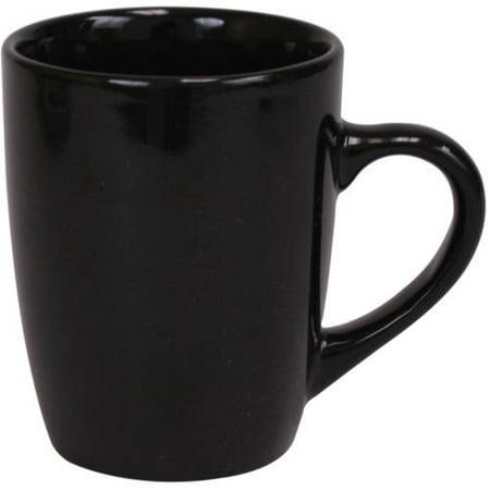 Home Basics Ceramic Mug, Black